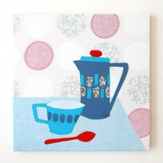 """""""tea for one"""" embroidery by lauraamiss via etsy"""