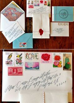Betsy Dunlap Travel Inspired Wedding Invitations (this is what I wanted) Mail Art, Wedding Stationary, Wedding Invitations, Invites, Invitation Suite, Wax Stamp, Wedding Calligraphy, Calligraphy Handwriting, Beautiful Calligraphy