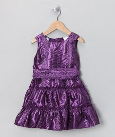 Take a look at this Purple Tiered Dress - Infant, Toddler & Girls by Twirl & Whirl: Fancy Frocks on #zulily today!