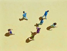 Eva Navarro, Midday in Cordoba, 2013 / 2015 © www.lumas.com/ #LumasAbstract,  Aerial view,  Back view,  Back views,  bird's eye perspective,  Color,  concepts,  creations,  geometric,  Geometry,  graphic,  Movement,  Passers,  pastel,  People,  Photography,  Sequence,  Shadow,  Silhouette,  Silhouettes