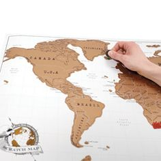Scratch Map - Scratch Map is brilliant! Its the perfect way to show off where you've been travelling while livening up your wall with a colourful world map. $35.99