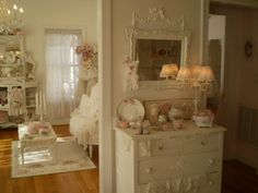@www.beatricebank... #pink and white romantic home cottage decor