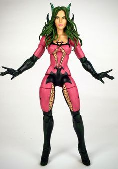 Polaris (Shi'ar Empire costume) (Marvel Legends) Custom Action Figure by bluebery Base figure: Spiderwoman