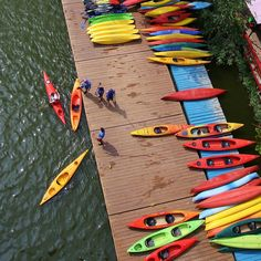 Among the things I'd rather be doing today: kayaking in one of these colorful beauties at Jack's Boat House.