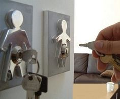 his hers key holder