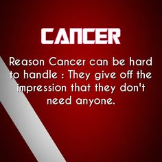 We do need people, but on our terms and definitely only the people we choose. cancer daily astrology fact