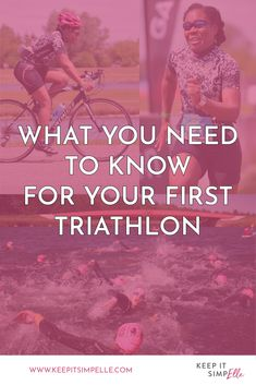 First Triathlon? How To Get Into Triathlon - keep it simpElle Swim Technique, Learn To Swim, Sweat It Out, I Can Do It, Triathlon, Need To Know, Get Started, Fitness Inspiration, Cycling