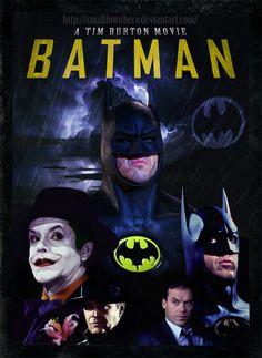 1989 Batman movie with Michael Keaton, Jack Nicholson, and Kim Basinger. DON't Forget the great Batman song from Prince. Michael Keaton, Jack Nicholson, Film Tim Burton, Tim Burton Batman, Batman Poster, Kim Basinger, Best Superhero, Superhero Movies, Childhood Movies