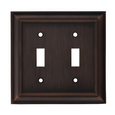 "allen + roth 5""W x 4""H Oil-Rubbed Bronze Toggle Metal Wall Plate 8.98"