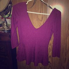 Sexy purple blouse Purple blouse great for the club Forever 21 Tops Crop Tops