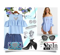 """Sheinside Top"" by jeneric2015 ❤ liked on Polyvore featuring Improvements, Diane Von Furstenberg, Seletti, Old Navy and Miu Miu"