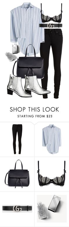 """""""Untitled #21106"""" by florencia95 ❤ liked on Polyvore featuring rag & bone/JEAN, Vetements, Mansur Gavriel, L'Agent By Agent Provocateur, Gucci and Burberry"""