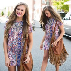 Pattern dress done right  #swoonboutique