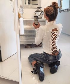 Sexy Outfits, Dress Outfits, Cool Outfits, Fashion Dresses, Blouse Patterns, Blouse Designs, Fashion Beauty, Womens Fashion, Casual Looks