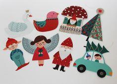 Geschenkanhänger - Anhänger Sortiment Weihnachten - ein Designerstück von millidees bei DaWanda