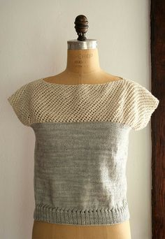 Cap Sleeve Lattice Top by Purl Soho