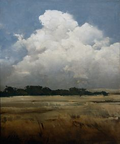 """Skies Over Cove by Joseph Alleman Oil ~ 30"""" x 25. w"""""""