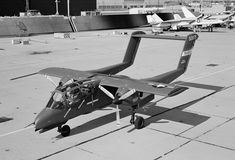 North American Rockwell Y0V-10A Prototype.  This plane would become the OV-10 Bronco and would serve in Vietnam with the Air Force, Navy, and Marine Corps as a Forward Air Control (FAC) aircraft to spot ground targets for  fighter bombers.  Great plane! Saw the Marines flying these in Korea back in the 1980s.....