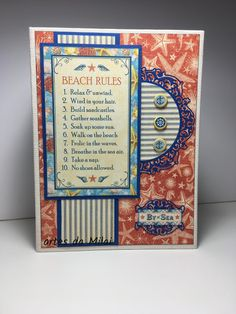 álbum By the Sea Graphic 45, Beach Rules, Advertising Ads, Take A Nap, Sea Shells, Scrap, Paper Crafts, Projects, Facebook