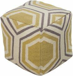 Surya POUF-233 Parsnip Hexagon Pouf