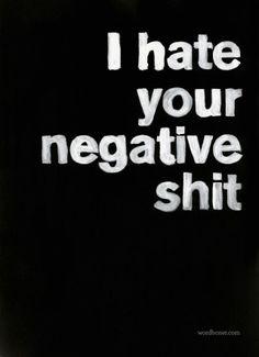 Hate negativity