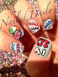 One Direction Nails... this is for you Kelsey