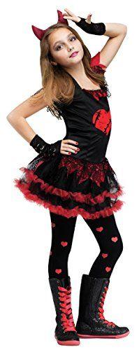 Fun World Devil Diva Girl's Costume Red/Black Large (12-14) Fun World Costumes