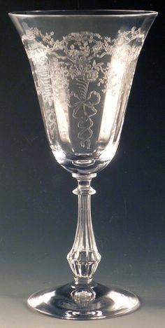 j'adore etched wine goblets
