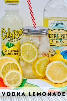 Vodka Lemonade is the perfect drink to enjoy on a nice hot day in the summer. You will love how quickly this drink comes together as you combine Lemonade Vodka, Lemonade, and lemon to create this delicious adult beverage that you can enjoy with friends and neighbors. It is such an easy drink recipe you can not go wrong. Summer Grilling Recipes, Summer Recipes, Fall Recipes, New Recipes, Easy Drink Recipes, Best Cocktail Recipes, Delicious Recipes, Frozen Cocktails, Fun Cocktails