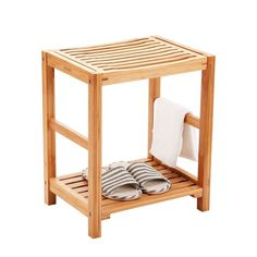 ICYMI: Bamboo Bathroom Shower Bench Shelf Chair Wood Bath Seat Spa Indoor Outdoor Salon