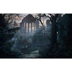Haunted Woods Forest Eerie Good place for secret society Dark Fantasy, Fantasy Art, Fantasy Forest, Gothic Landscape, Fantasy Landscape, Landscape Art, Ancient Ruins, Gothic Wallpaper, Gothic Artwork