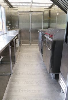 Look how much room is available for all your kitchen equipment needs in this 16' food truck