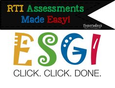 I've found a way to manage RTI assessments and make them so much easier!!  Love this! @ESGIsoftware