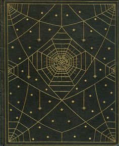 """""""The book of wonder"""" by Lord Dunsany, published by Heinemann in 1912 and bound by S&S in full deerskin with a spider web design in gilt. (front)"""