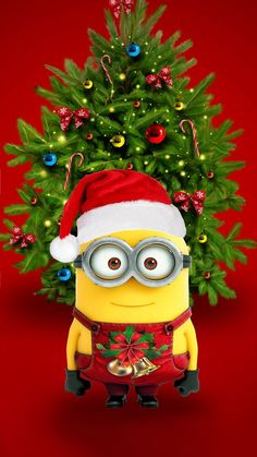 Minion christmas Ringtones and Wallpapers - Free by ZEDGE™ New Year Wallpaper, Holiday Wallpaper, Wallpaper Iphone Cute, Cute Wallpapers, Minion Wallpaper, Christmas Ringtones, Christmas Story Books, Cute Minions, Minions Minions