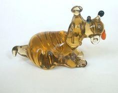 art glass dog figurine glass figurine dog glass by WeAreLuckyShop, $8.19