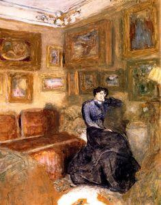 Lucie Hessel in the Small Salon, rue de Rivoli Edouard Vuillard - circa 1904