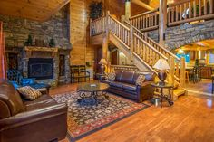 Pigeon Forge cabin rental in the Smoky Mountains. Pigeon Forge Cabin Rentals, Smoky Mountains Cabins, Moose, Wedding Venues, Patio, Vacation, Outdoor Decor, Home Decor, Elk