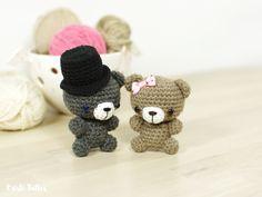 Free crochet pattern: Tiny teddy bear // Kristi Tullus (spire.ee)