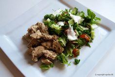 EGOSHE.dk - En madblog med South Beach opskrifter og andet godt...: Kyllingekebab med salat og yoghurtdressing