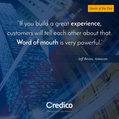 Buidling a great experience by Credico (@CredicoWorldwide) | Facebook #media #motivation #business