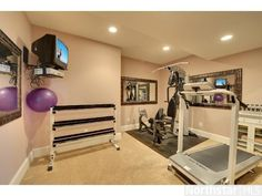 Who needs a gym membership? Get fit at home with this workout room.