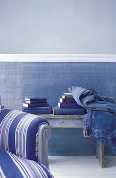 Bring fashion to your home with our Ralph Lauren Paint Indigo Denim faux technique with undeniably cool character and subtle texture.