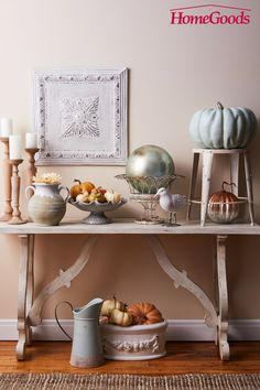 French Country Fall  Gone are the days where fall colors were limited to red, gold and orange. Soft country colors feel seasonally fashionable when paired with rustic, distressed and wooden accents. Explore aisles of fall fashion priced to bring touches of fall to every corner of your home. French Country Decorating, Fall Decorating, Farmhouse Homes, Farmhouse Decor, Foyer, Entryway Tables, Country Fall, Color Feel, Needful Things