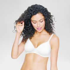 Hanes Women's Ultimate ComfortBlend T-Shirt Wirefree Bra HU03 -