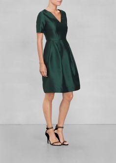 & OTHER STORIES | Dark green silk dress