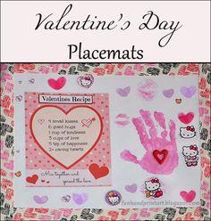 Valentine's Day Handprint Placemat #DuckValentine