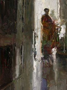 Dan McCaw (red and green in dark silhouette and shadows, blue spot)