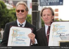 Dewey Bunnell and Gerry Beckley - America Honored with a Star on the Hollywood Walk of Fame on February 6, 2012