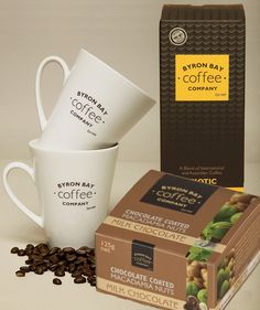 Byron Bay Exotic Coffee and Mugs Gift Set AU$57.50 | Free Delivery* at Red Wrappings